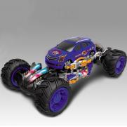 Джип радиоуправляемый Каркадер синий (стреляет ракетами, свет, звук, 24 см)