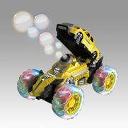 Машина трюковая радиоуправляемая желтая (мыльные пузыри, 24 см, свет, звук)