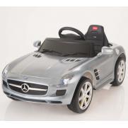 Электромобиль для детей радиоуправляемый Mercedes-Benz SLS AMG серебристый (звук, свет, 110 см)