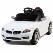 Детский электромобиль с пультом BMW/БМВ Z4 белый (4 км/ч, свет фар, звук, MP3)