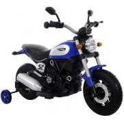 Детский мотоцикл Qike Чоппер синий - QK-307-BLUE