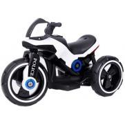 Детский мотоцикл на аккумуляторе Y-MAXI Police White - SW198A-WHITE