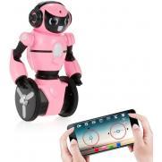 Розовый робот WL toys F4 c WiFi FPV камерой, управление через APP
