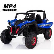 Двухместный полноприводный электромобиль Blue UTV-MX Buggy 12V MP4