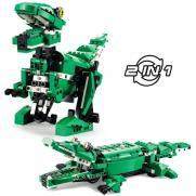 Конструктор динозавр/крокодил (450 деталей)