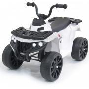 Детский квадроцикл R1 на резиновых колесах 6V - 3201-WHITE