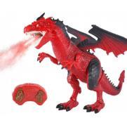 Радиоуправляемый красный дракон, дышит паром