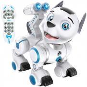 Собака робот на пульте управления, свет, звук