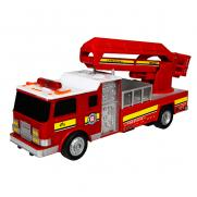Пожарная машина с подъемной стрелой радиоуправляемая (мигалки, 30 см)