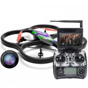 Радиоуправляемый квадрокоптер WLToys V333 FPV Camera Cyclone UFO Drones 2.4G (видео на пульте, 60 см, свет)