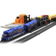 Железная дорога со станцией загрузки автомобилей, длина 549 см
