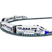 Железная дорога, скоростной поезд, дорожные знаки, длина полотна 457 см