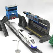 Железная дорога с пассажирской станцией, скоростной поезд, длина полотна 244 см