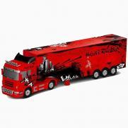 Радиоуправляемый грузовик (фура) с прицепом - красный (длина 50 см, звук, свет)