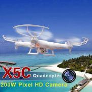 Радиоуправляемый квадрокоптер С КАМЕРОЙ Syma X5C 2.4G (подсветка, видео HD, 31 см)