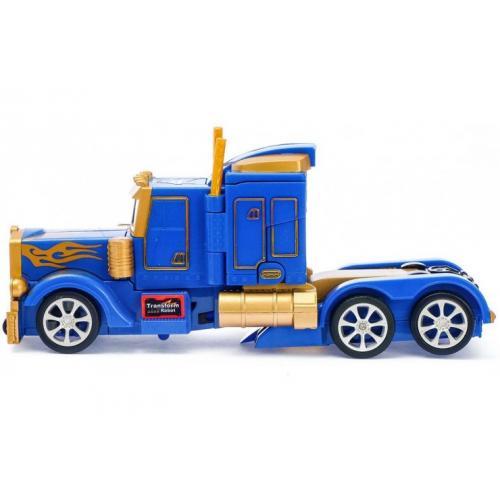 Радиоуправляемый робот трансформер Оптимус грузовик желто-синий