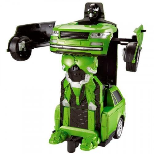 Радиоуправляемая машина робот-трансформер (свет, звук, 20 см, зеленый)