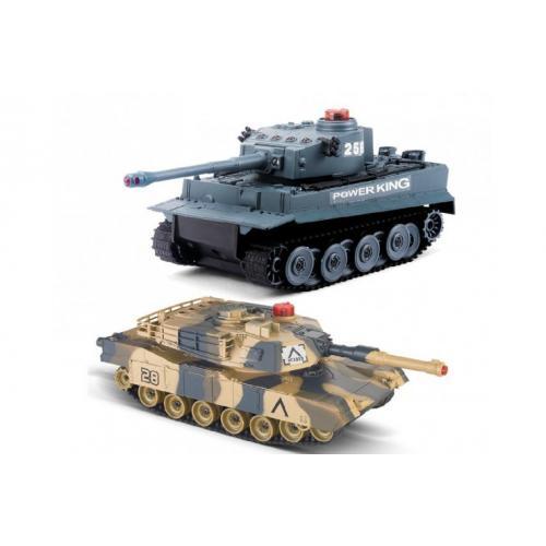 Танковый бой на радиоуправлении Tiger vs Leopard 1:32 (2 танка по 21 см)