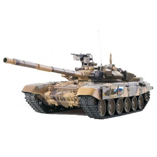 Радиоуправляемый танк Heng Long T90 1:16 (металл. гусеницы, дым, пневмопушка, 54 см)