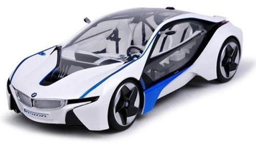 Радиоуправляемая машина BMW VED 1:14 белая  (яркая подсветка, 35 см, аккум.)