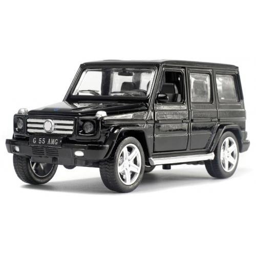 Металлическая модель Mercedes G55 Black (музыка, свет, инерция) - 1:32 - 25074C
