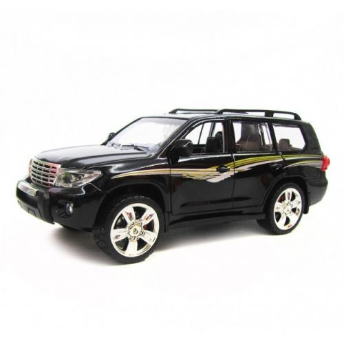 Металлическая модель Toyota Prado Black (свет, звук, инерция) - M923J