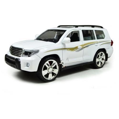 Металлическая модель Toyota Prado White (свет, звук, инерция) - M923J