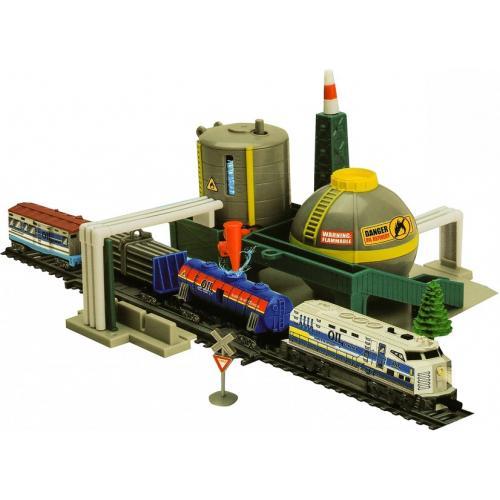 Железная дорога со станцией загрузки воды, длина полотна 670 см - BSQ-2087