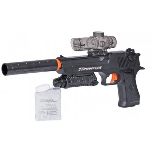 Пистолет с гелевыми пулями (аккумулятор, чемодан) - D1A-1