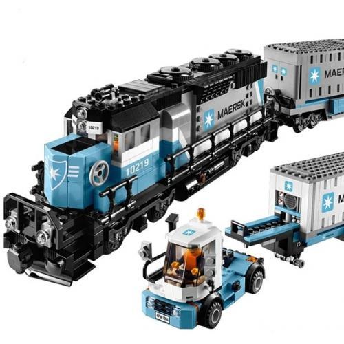 Конструктор Lepin 21006 Грузовой Поезд Маерск - Technic 10219