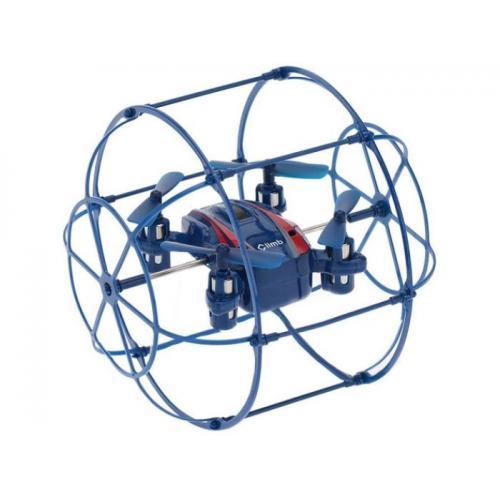 Радиоуправляемый мини квадрокоптер в защитной сетке