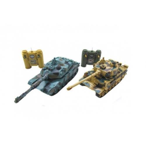 Радиоуправляемый танковый бой Leopard и Tiger (2 танка по 25 см)