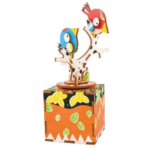 """Деревянный 3D конструктор - музыкальная шкатулка Robotime """"Song of Bird and Tree"""""""