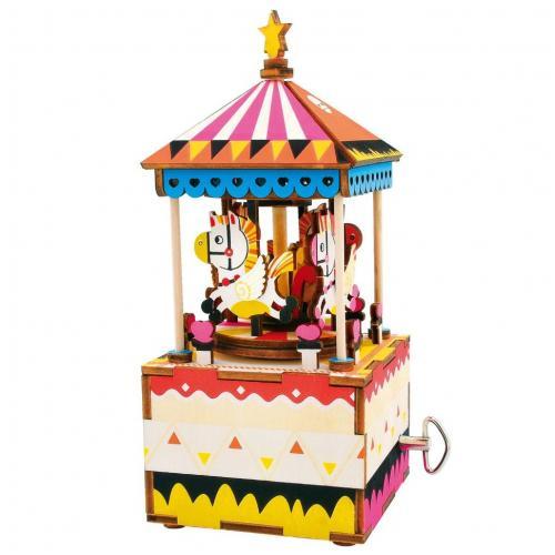 """Деревянный 3D конструктор - музыкальная шкатулка Robotime """"Merry-go-round"""""""