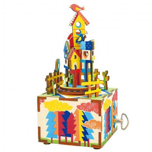 "Деревянный 3D конструктор - музыкальная шкатулка Robotime ""Castle in the sky"""