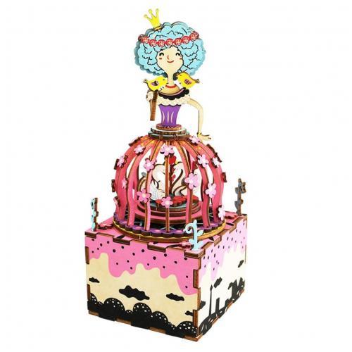 """Деревянный 3D конструктор - музыкальная шкатулка Robotime """"Princess"""""""