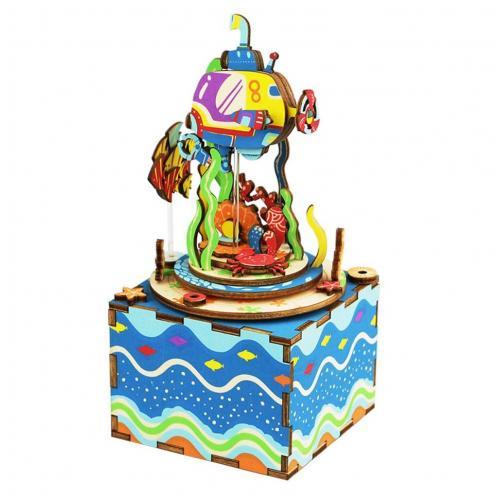"""Деревянный 3D конструктор - музыкальная шкатулка Robotime """"Under The Sea"""""""