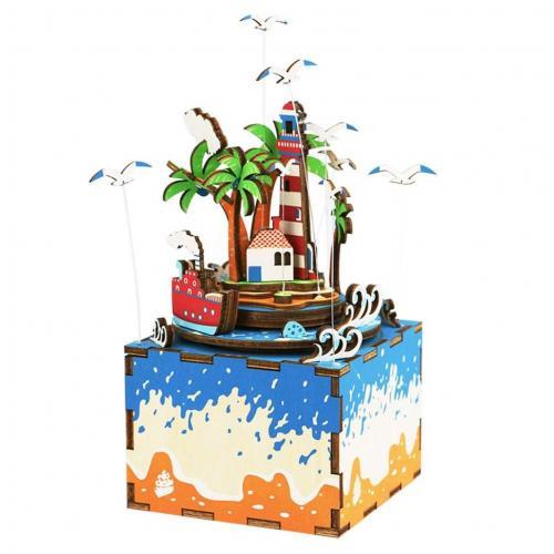 """Деревянный 3D конструктор - музыкальная шкатулка Robotime """"Vocational Island"""""""