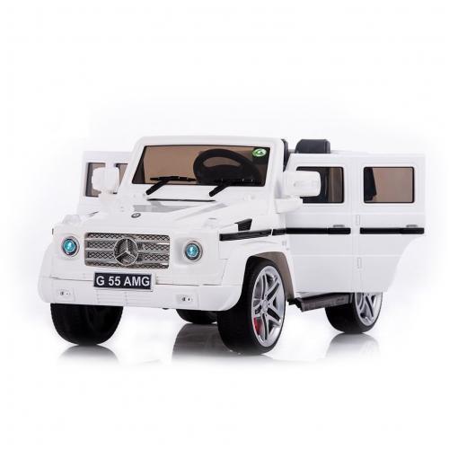 Радиоуправляемый детский электромобиль Mercedes Benz G55 White Luxury 12V 2.4G