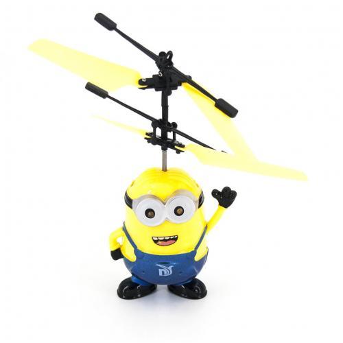 """Летающая игрушка миньон """"Дэйв"""" со светящимися глазами"""