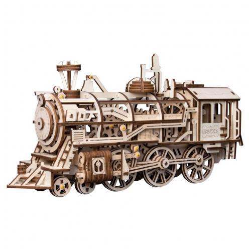 """Деревянный 3D конструктор с приводом Robotime """"Locomotive"""""""