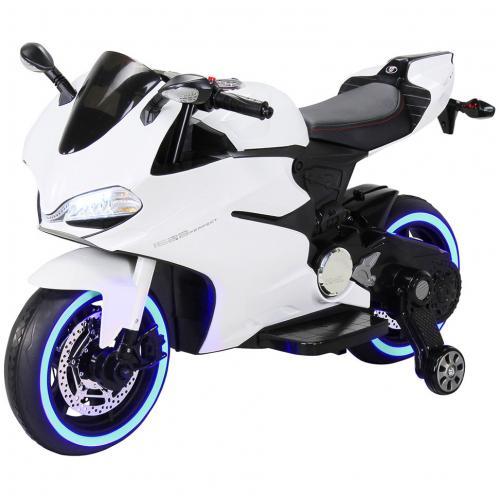 Детский электромобиль - мотоцикл Ducati White
