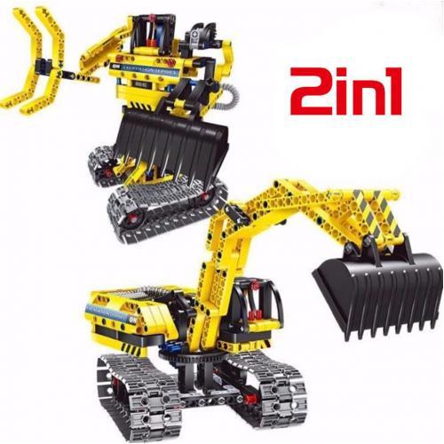 Конструктор 2 в 1 (экскаватор и робот) 342 детали