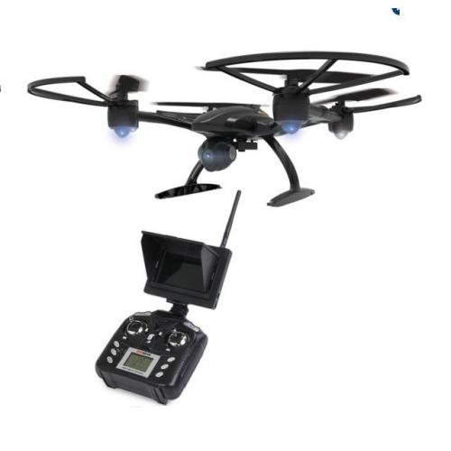 Квадрокоптер с поворотной HD камерой 2MP FPV 5.8G (видео на пульт, 55 см)