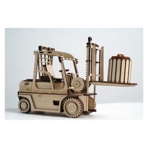 Конструктор деревянный подвижный Погрузчик