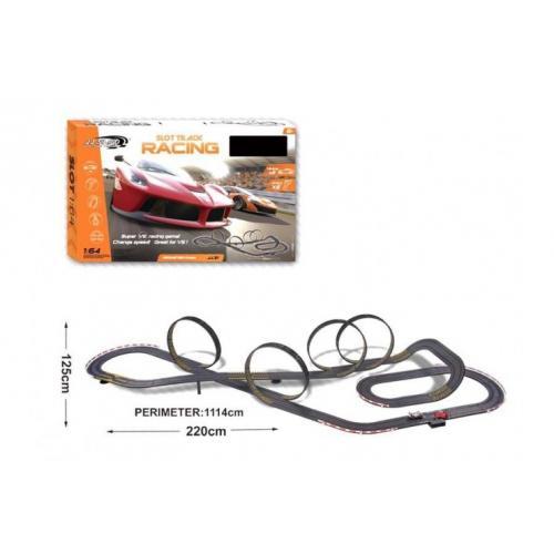 Гоночный трек Turbo Гран При от сети длина трека 1114 см 1:64 CS Toys