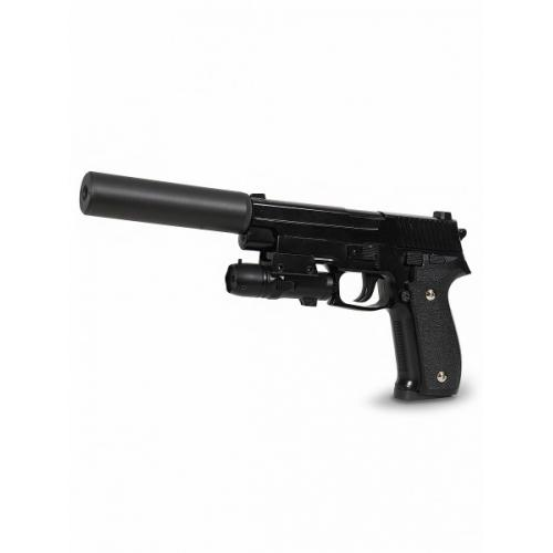Пневматический пистолет SIG 226 с глушителем и ЛЦУ (металл, 20 см)