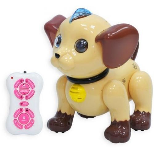 Радиоуправляемый робот собачка коричневый