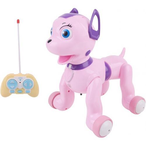 Радиоуправляемая Собачка долматинец, розовый
