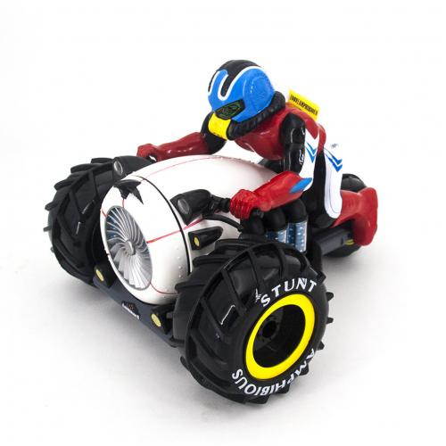 Радиоуправляемый мотоцикл амфибия трюковой (27 см, свет)